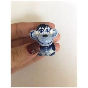 Russian Gzhel Monkey Figurine Сhinese Horoscope